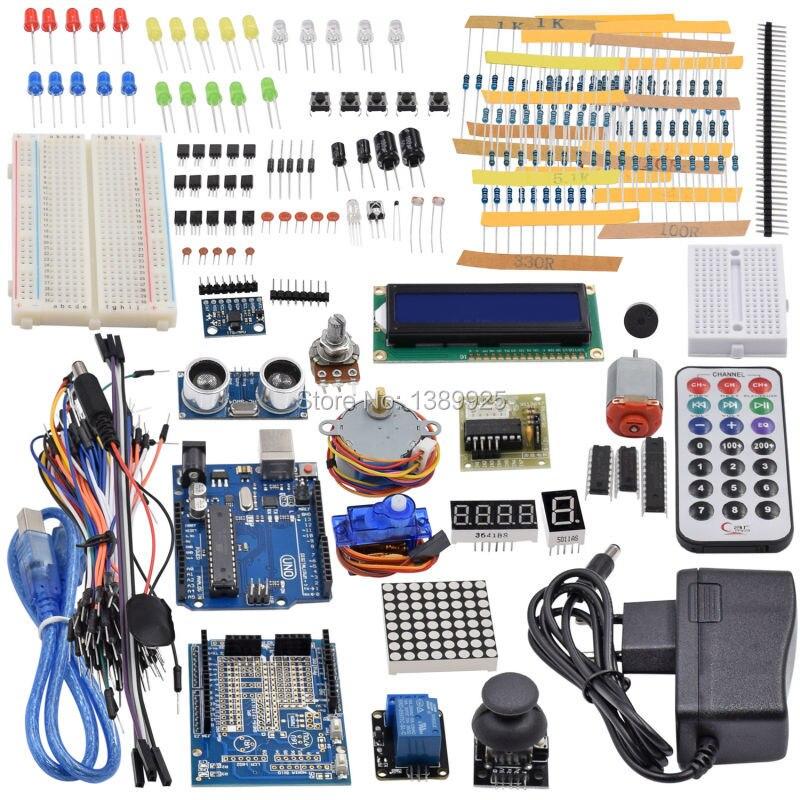 Ultime Starter Kit y compris Capteur À Ultrasons, UNO R3, Écran LCD1602 pour Arduino UNO Mega2560 Nano avec Boîte En Plastique
