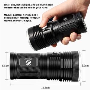 Image 3 - مصباح ليد جيب قوي مع 18 x T6 LED خرزة مصباح كاشف مقاوم للماء مجموعة واسعة استخدام 4x18650 بطارية الإضاءة