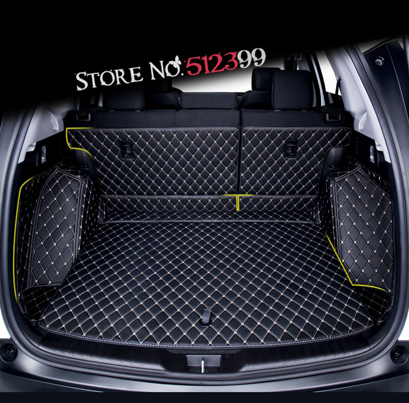 Car Interior Rear Cargo trunk MAT Pad 1set Artificial Leather for Honda CRV CR-V 2017 2018 Car accessories Styling car rear trunk security shield cargo cover for honda fit jazz 2008 09 10 11 2012 2013 high qualit black beige auto accessories