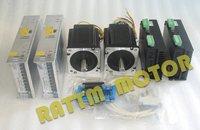 2Axis CNC controller kit 2pcs Nema34 CNC Stepper Motor 116mm/1230oz in /5.0A & CW8060 Driver 6A/80VDC & 5Axis board CNC Router