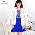HONGZUO Brand2016 Winter Women Thick Warm Fur Coat Long Sleeve O-Neck Fashion Luxury Quality Faux Fur Jacket Overcoat PC173