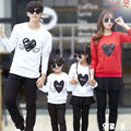 1 Piece Family Look 2016 Christmas Heart Mommy and Me Clothes Matching Family Clothing Sets Mother Daughter Father Baby T-shirt