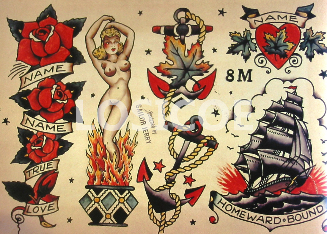 Fancy Sailor Jerry Wall Art Composition - Wall Art Collections ...