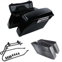 Motorcycle Painted Hard Saddle bag Trunk &Lid Latch Key Conversion Bracket For 94 13 Harley Touring Road King Softail Sportster
