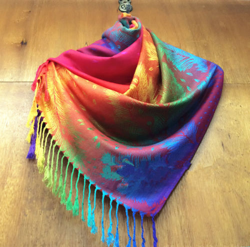 Orange Colorful New Fashion Pashmina Cashmere Womens