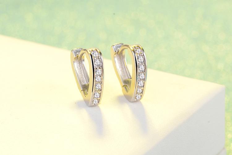 RUOYE Μοντέρνο ασημένιο σκουλαρίκια - Κοσμήματα μόδας - Φωτογραφία 4
