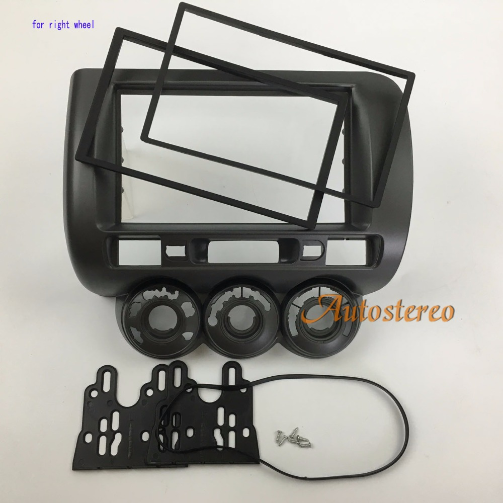 Car radio fascia for honda fit jazz 2002 2008 manual air conditioning right wheel