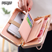Wallet Cases For Huawei P Smart Case Universal Phone Cover For Samsung Galaxy A8 2018 Case