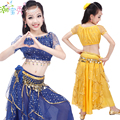 2016 New Children Belly Dance Performance Clothing Girls Belly Dance Costumes Kids India Dance Stage Show Suit 3Pcs B-3585
