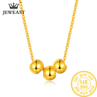 24K Pure Gold Necklace Real AU 999 Solid Gold Chain Beautiful Leaf Upscale Trendy Classic Party Fine Jewelry Hot Sell New 2019