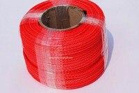 Бесплатная доставка Красный 5 мм * 100 м синтетический трос, 3/16 ATV лебедки линии для внедорожных аксессуары, Буксировочные тросы