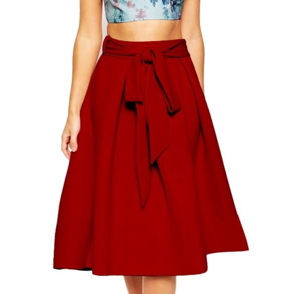 High Waist A Line Skirt - Skirts
