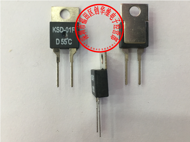 10pcs Thermal Protector Thermostat Temperature Switch KSD 01F 55 Degrees Normally Closed NC D55C Open NO H55C