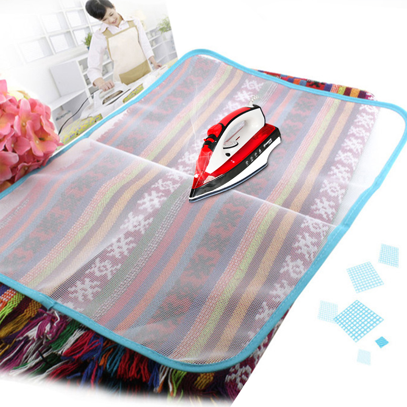 High Temperature Ironing Cloth Ironing Pad Household Protective Insulation Against Pressing Pad Boards Mesh Cloth Random Colors