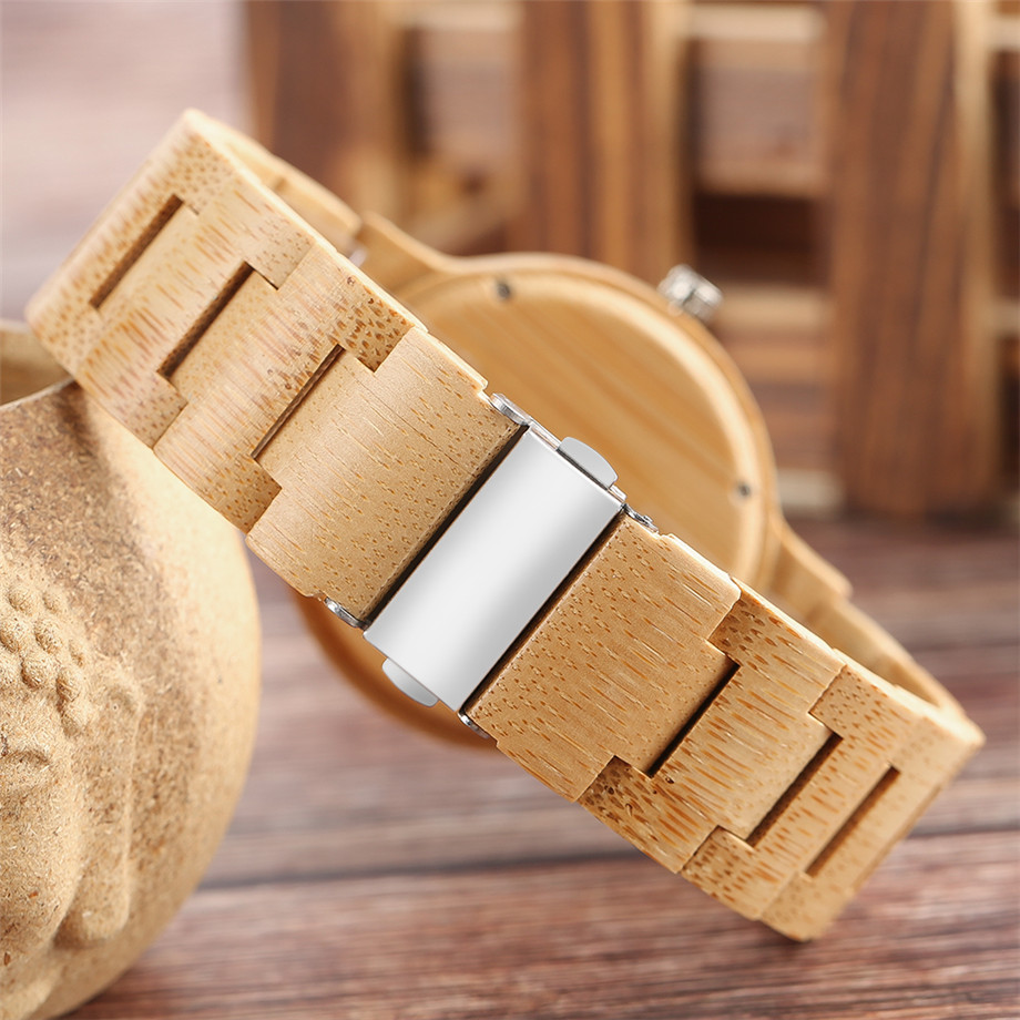 YISUYA Minimalist Full Wooden Watches Women Men Bamboo Wood Bracelet Fashion Creative Quartz Wristwatch Handmade Gifts Casual Clock Hour (24)