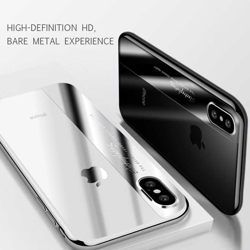 Luxury Slim Silicone Case For iPhone X 7 8 6 S 6S Plus Coque Plating TPU Back Cover Shockproof Armor Phone Cover Capa