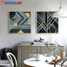 Geometric Line Landscape Wall Art Canvas Painting Nordic Posters And Prints Pictures For Living Room Bedroom Home Decor