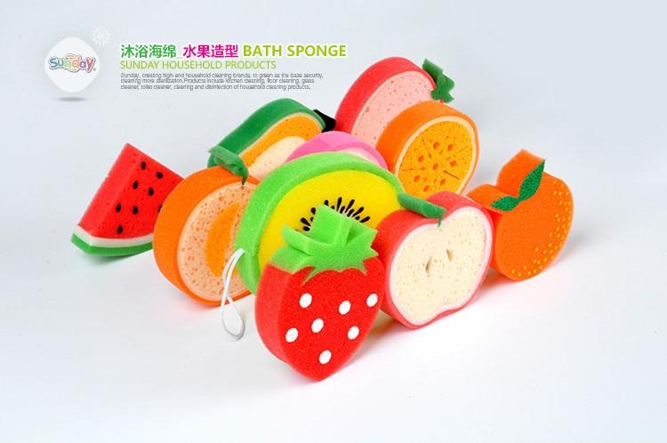 5pc Cartoon Bath Sponge Cleaning Sponge Bath Tn The Bathroom Supplies Set Nelamine Fruit Shape Stock Sponge