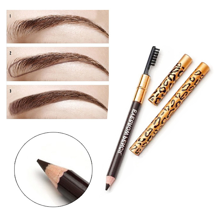 Hot Sale 1pcs Women Waterproof Eyebrow Pencil With Brush Make Up
