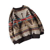 Fashion 2017 Men Brand Winter Sweater Special Culture Print Men Good Quality Long Sleeve Mens Vintage