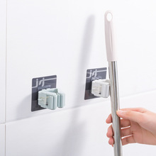 متعددة الأغراض قوي هوك اللاصقة خطاف الحائط ممسحة حامل مُنظِم رف فرشاة مكنسة المطبخ الحمام جدار السنانير مصاصة