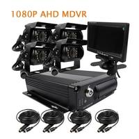 Gratis Verzending 4CH H.264 1080 P AHD 256 GB SD Auto DVR Video-opname 7