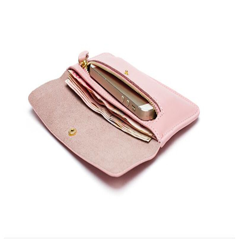 lÍdio simples couro do couro Women Leather Card Wallet Apply To : Female/woman/ladies/mujeres/femenino/mujer/mulheres/mulher/femmina