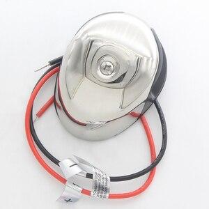 Image 4 - Dwukolorowa dioda LED światło nawigacyjne ze stali nierdzewnej 12 V łódź morska jacht czerwony zielony Port na prawą burtę światła