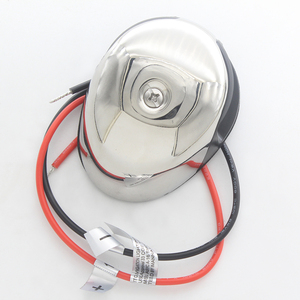 Image 4 - ثنائية اللون LED والملاحة إضاءة أرضية من الاستانليس ستيل 12 V مركبة بحرية يخت الأحمر الأخضر ميناء يمنى ضوء