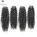 6A brasileiro profunda Curly virgem cabelo 4 pcs lot cabelo humano weave bundles tecelagem cabelo remy brasileiro do cabelo encaracolado 100 g/pc 8 - 30 polegada
