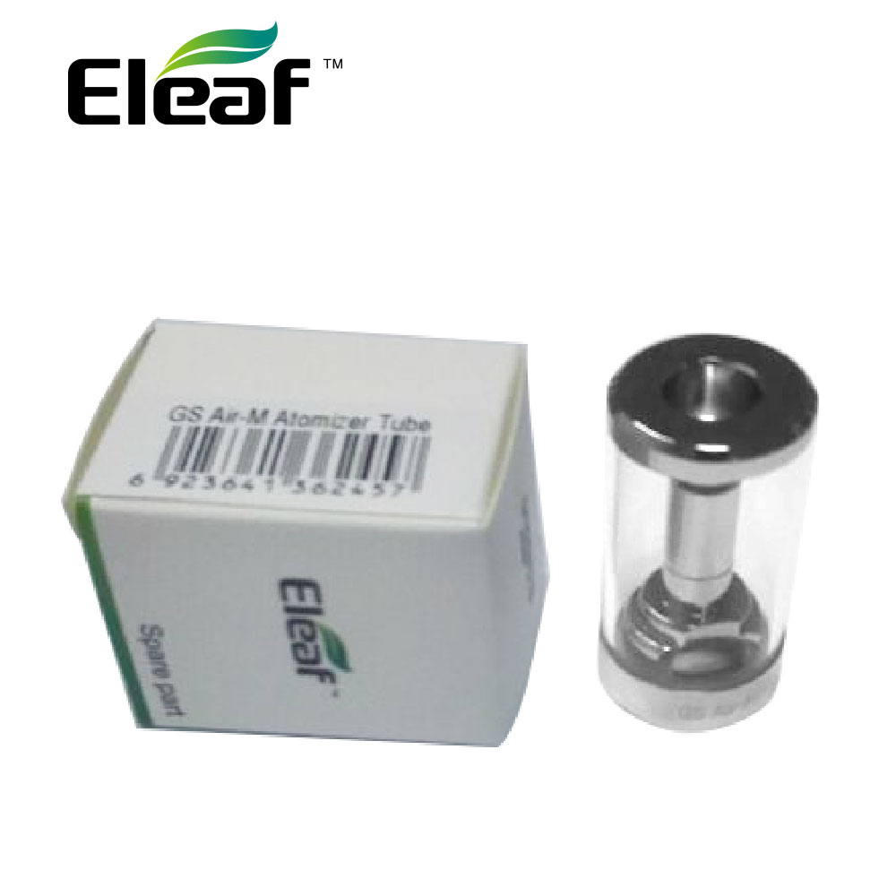 100% Original Eleaf GS Air-M Replacement Glass Tube for GS Air-M Atomizer 4ml Capacity GS Air-M Glass Tube E-cig Vape Spare Part gs