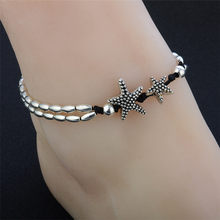Silver color Anklets 2018 Hot Star Foot Bracelet Vintage Barefoot Beach Vintage Ankle Leg Jewelry For Women JC16(China)