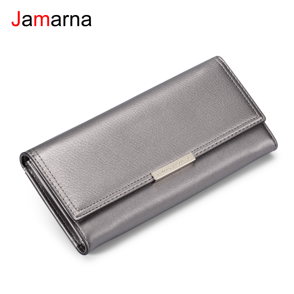 Jamarna Women Wallets Hasp Red Coin Purse Women Wallets Brand Design High Quality PU Leather Phone Card Holder Purse Women japan s rural style women wallets floral print sweet lady carteira hasp coin purse wallets card holder