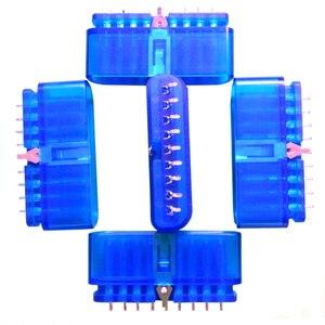 Image 2 - 10 adet yedek 9 Pin 90 derece dişi konnektör oyun denetleyicisi soket yuvası için PS2 konsolu playstation 2 aksesuar