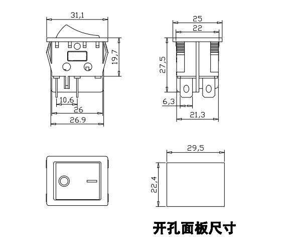 Переключатель источника питания сварочного аппарата 10 шт., 30 А переключатель типа T8555 KCD4 с подсветкой, четыре фута, два файла