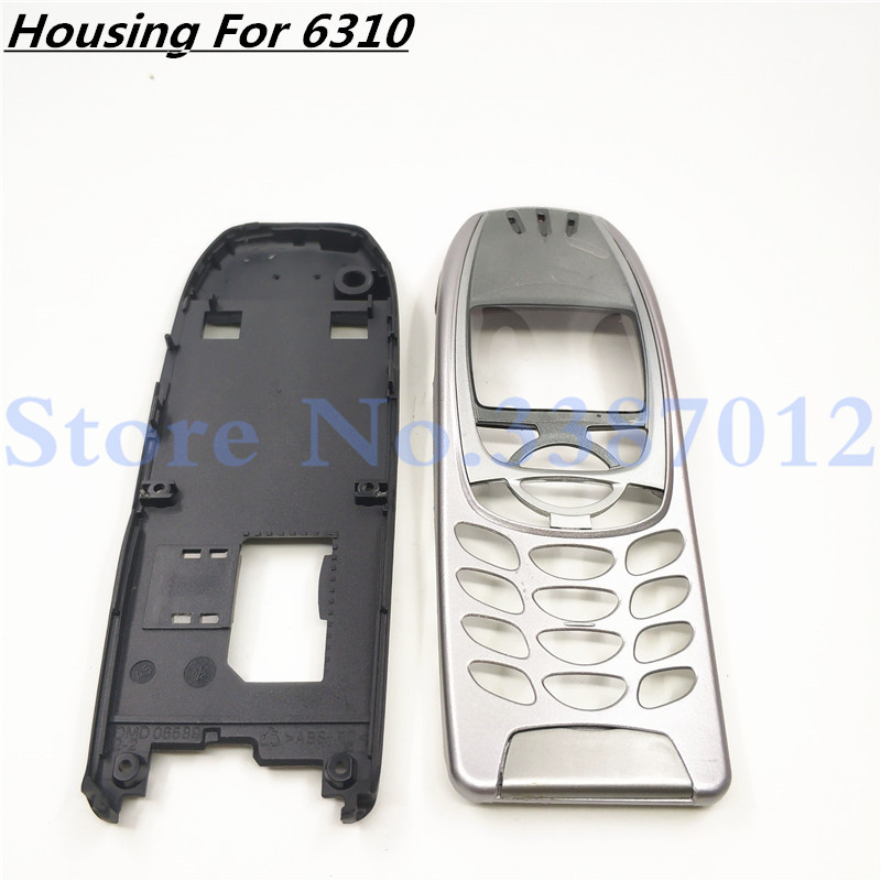 New For <font><b>Nokia</b></font> 6310i Cover Case Housing <font><b>6310</b></font> Battery Door Middle Frame Front Bezel Replace Part NO Phone Keyboard Keypad + Logo image