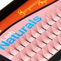 Navina 6 Roots 60 Natural 8mm/10mm/12mm/14mm Long Black Individual False Eyelashes Eye Lash Extension Kit Soft
