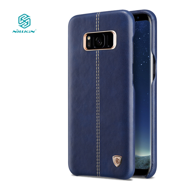 buy popular c05e9 a95be US $16.91 |Nillkin Englon cover for samsung galaxy s8 plus case luxury PU  Leather Vintage back cover for galaxy s8 plus phone cases 6.2''-in Fitted  ...
