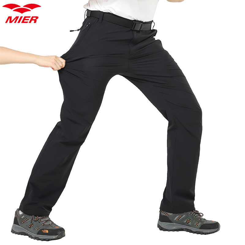 ed4d2f57926aa MIER Men's Hiking Pants Lightweight Tactical Cargo Pants, Water Resist,  Stretchy, Elastic Waistband, 5 Pockets-in Hiking Pants from Sports &  Entertainment ...