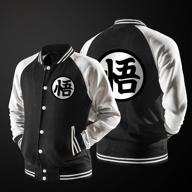 888b7abfa3 US $16.14 50% OFF|New Trend Spring Black Varsity Baseball Jacket Men/Boy  Fashion Japanese Anime Dragon Ball Goku Lightweight Bomber Jacket For  DBZ-in ...