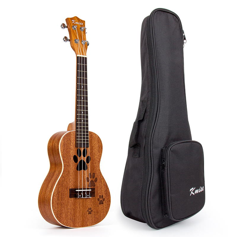 Kmise Concert Ukulele Mahogany Ukelele 23 Inch 18 Frets Uke 4 String Hawaii Guitar with Gig Bag concert acoustic electric ukulele 23 inch high quality guitar 4 strings ukelele guitarra handcraft wood zebra plug in uke tuner