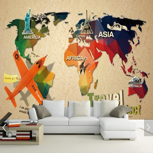 Custom mural retro world map wallpaper bedroom living room sofa custom mural retro world map wallpaper bedroom living room sofa wallpaper restaurant mural gumiabroncs Image collections