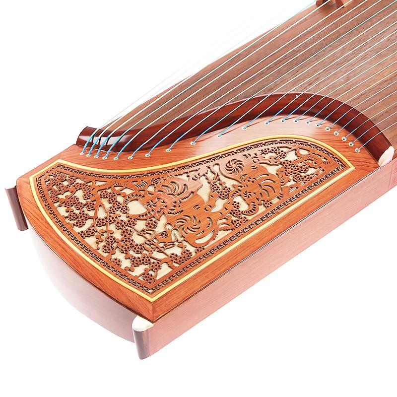 SevenAngel professionnel 10 niveaux jouant Guzheng Yangzhou Instruments de musique chinois 21 cordes cithare avec accessoires complets