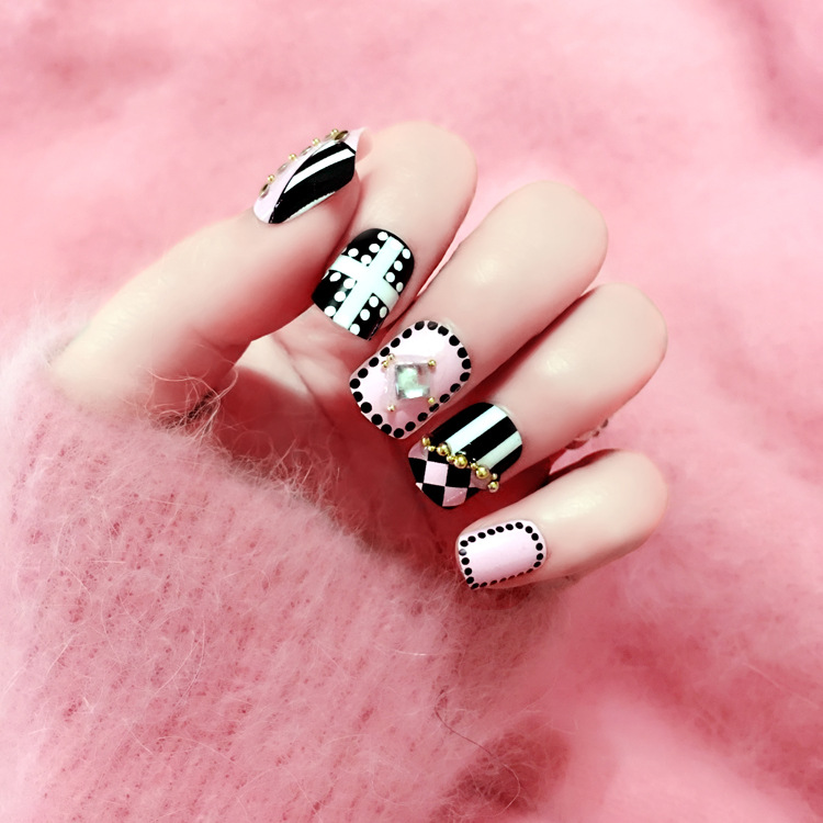 2016 new Nail art products Fake nails patch Fashion technology nail ...