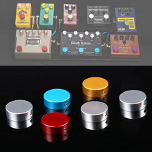 Electric Guitar Pedal Foot Nail Cap Foot Switch Knob Shiny Guitar Effect of Foot Head Of Nail Aluminum with Wrench and Screws