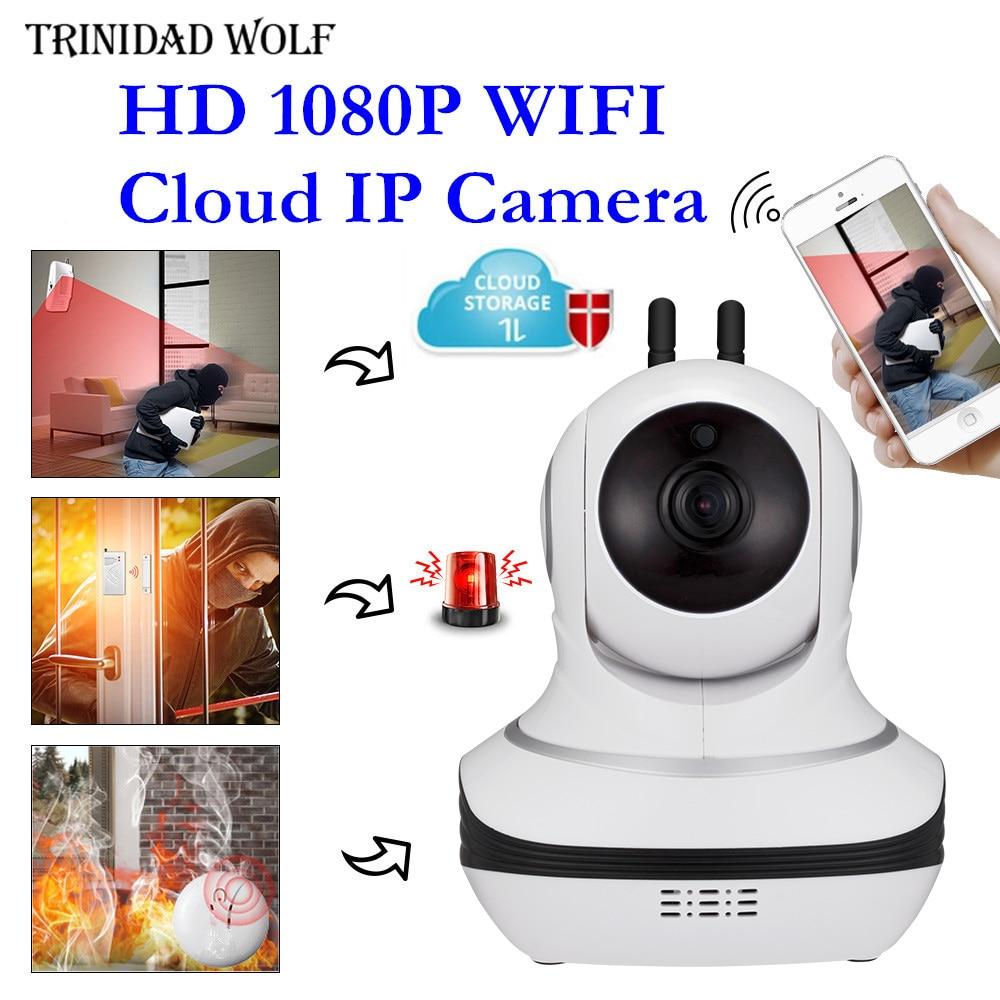 TRINIDAD WOLF 1080P Wifi Cloud IP Camera Security Night Vision IR Two Way Audio Smart CCTV Surveillance Wireless IP Camera P2P