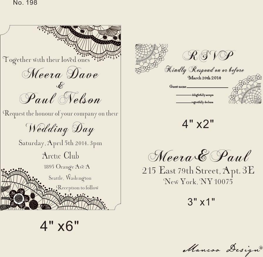 Diy Mengundang Stempel Karet Undangan Pernikahan Cap Set Dengan