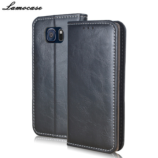 Lamocase for Samsung Galaxy S6 Case Luxury Leather Case for Samsung Galaxy S6 G920F SM-G920F Flip Cover with Wallet Slot