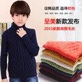 Bebé Boys & Girls Jerseys de Cuello Alto Suéteres Sólido Prendas de vestir exteriores Ropa de Los Niños niños Camisa de Punto Ropa de 18 M 2 4 6 8 10 12