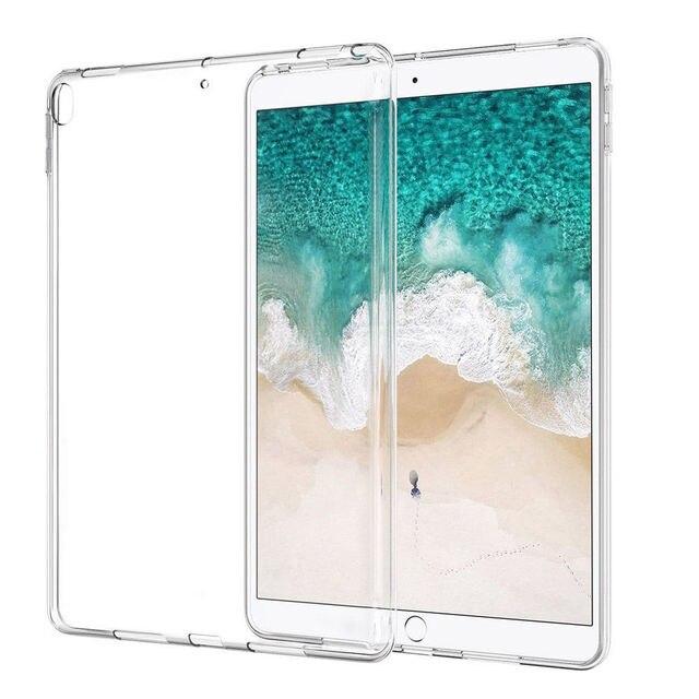 Funda de silicona para iPad Pro 12,9, 2018 de 9,7 transparente claro caso de TPU suave cubierta de parachoques caso para iPad 2/3/4 5 6 aire Mini